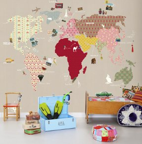 whole wide world wallpaper for kids room