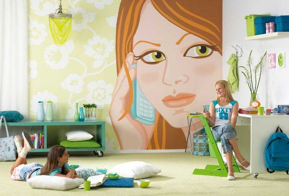 how are you wallpaper for girls room