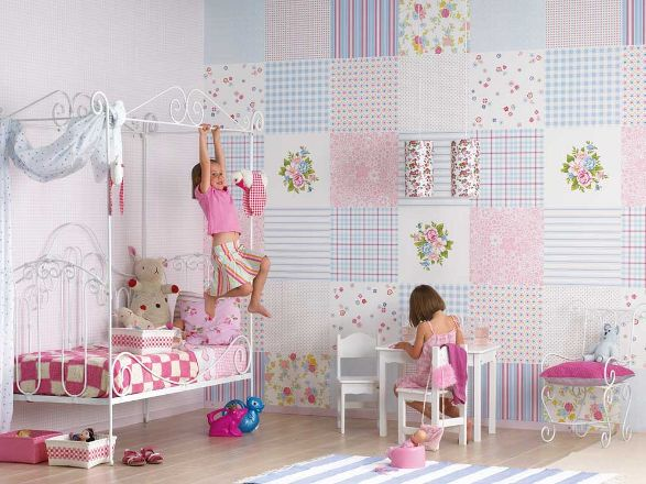 Bridals and grooms kids decoration bed rooms ideas wallpaper for Kids room wall paper