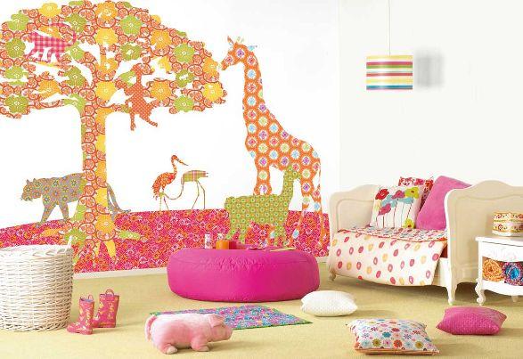 savannah shadows wallpaper for girls room