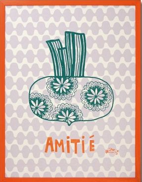 amitee silkscreen print for child's room