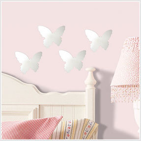 butterfly mirror wall decoration for kid's room