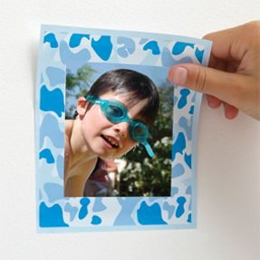 camo blue wall frame for kid's room