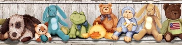 cuddle buddies border for child's room