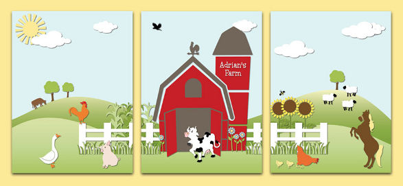 ferm canvas for kid's room