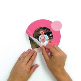 pink wall frame for girl's room