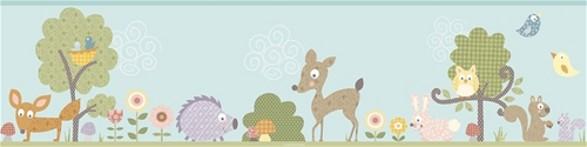 woodland animals border for kid's room