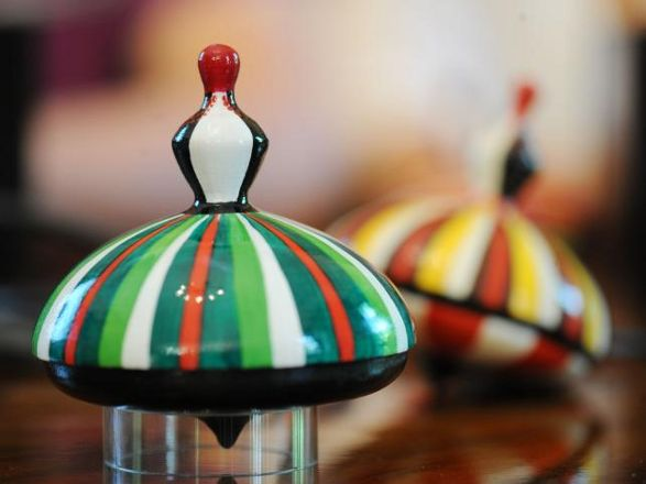 spinning top official souvenir of polish eu presidency