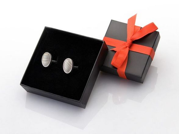striped flit cuff-links official souvenir of polish eu presidency