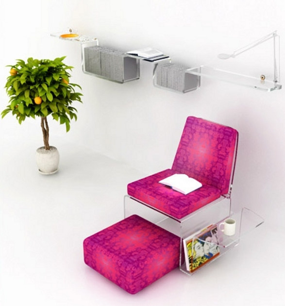 new generation collection of contemporary furnishing for home and office made of plexi