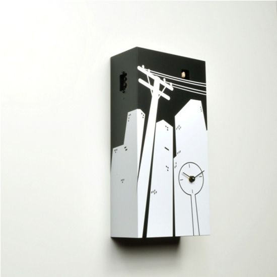 cuckoo clock inspired by city