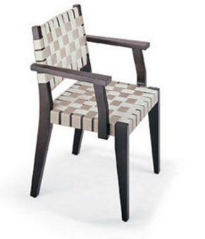 arborline chair made of seat belts