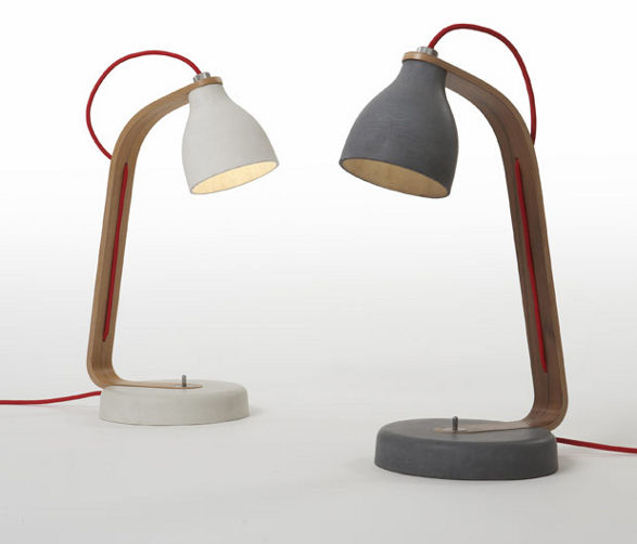 concrete desk lamps