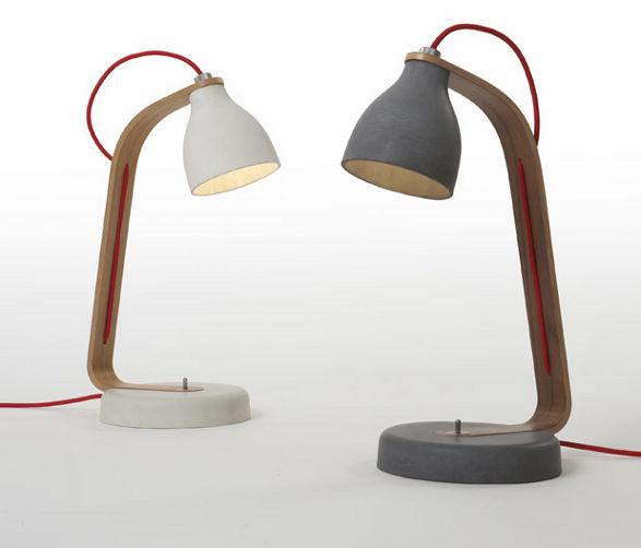 concrete desk lamps