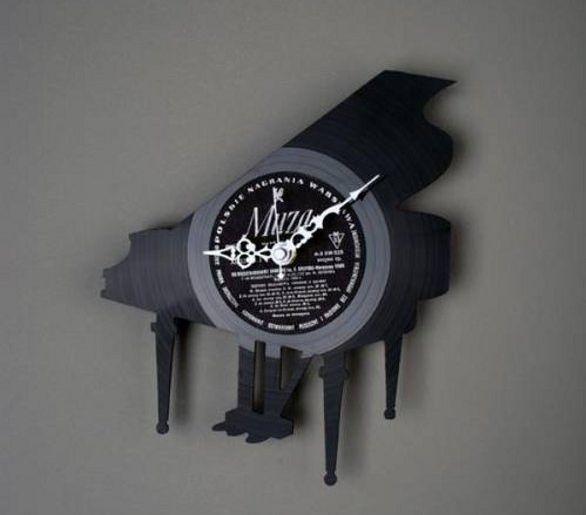 re vinyl wall clock made of old vinyl plate