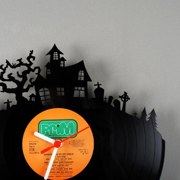 re vinyl wall clock made of old vinyl record