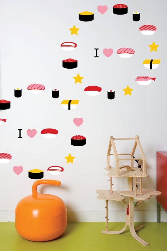 i love sushi wall sticker